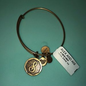 Alex and Ani S Charm Gold NEW